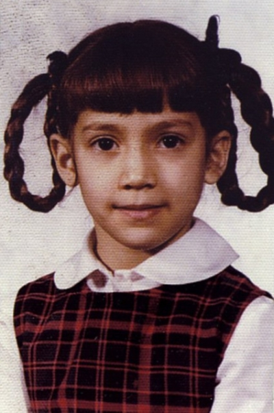 Young Jennifer Lopez as a girl